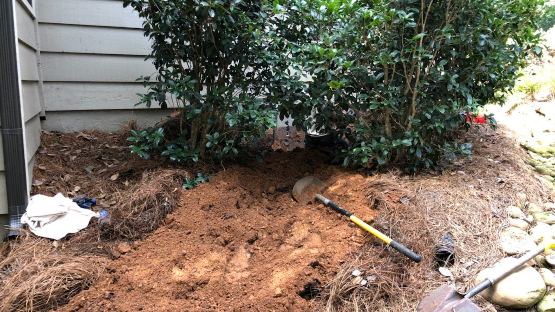 Digging Around House to Gain Access to the Crawlspace