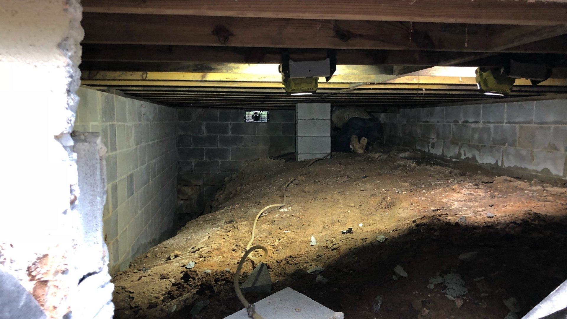 Crawlspace Prior to Encapsulation Project