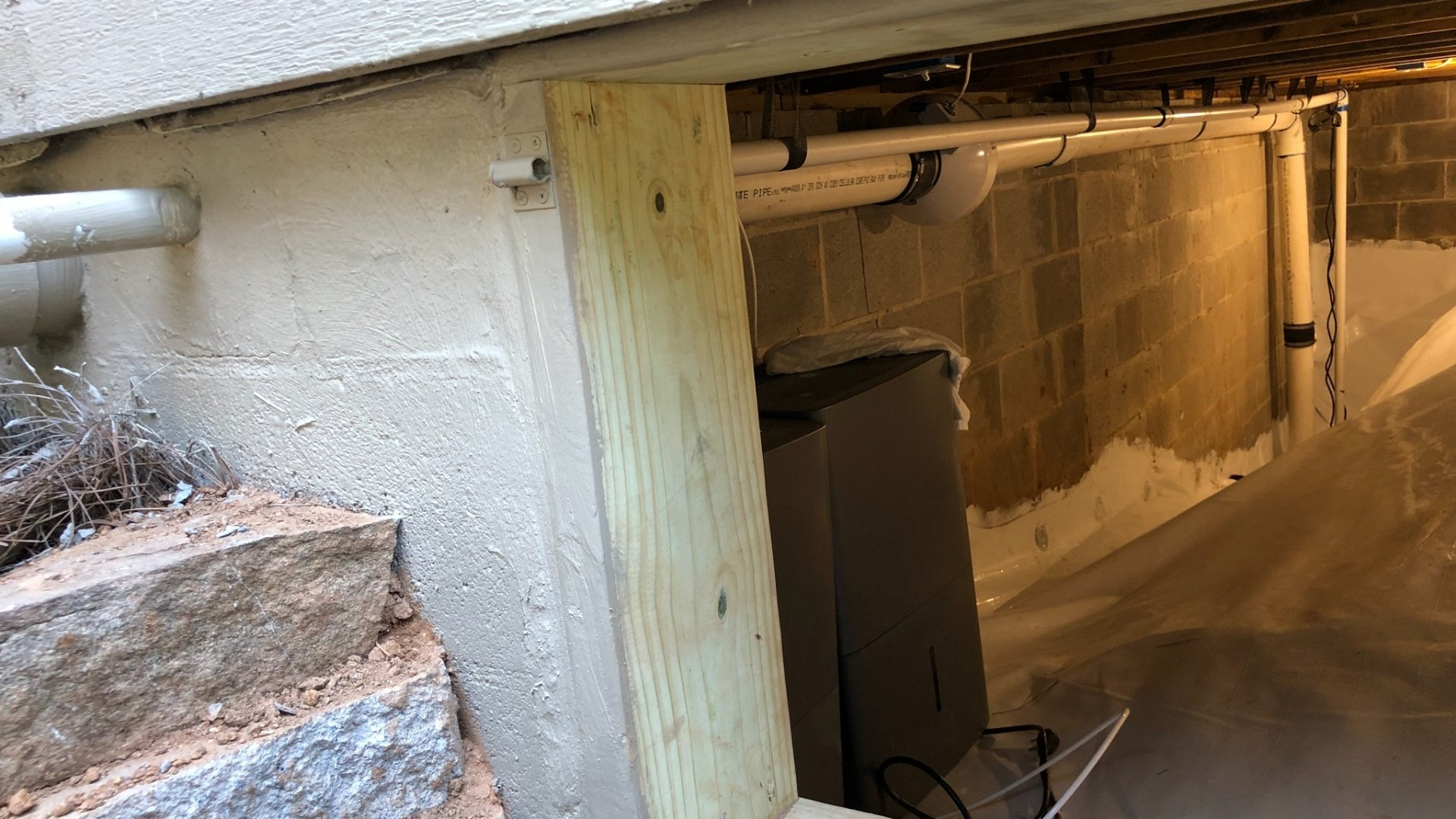 Doorway Framing During Crawlspace Encapsulation