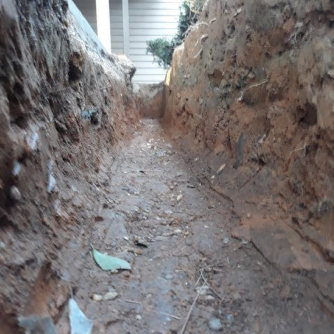 Inside View of Waterproofing Trench