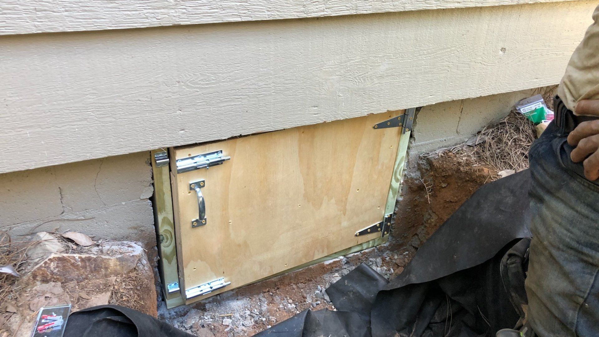 Crawlspace Door Installation