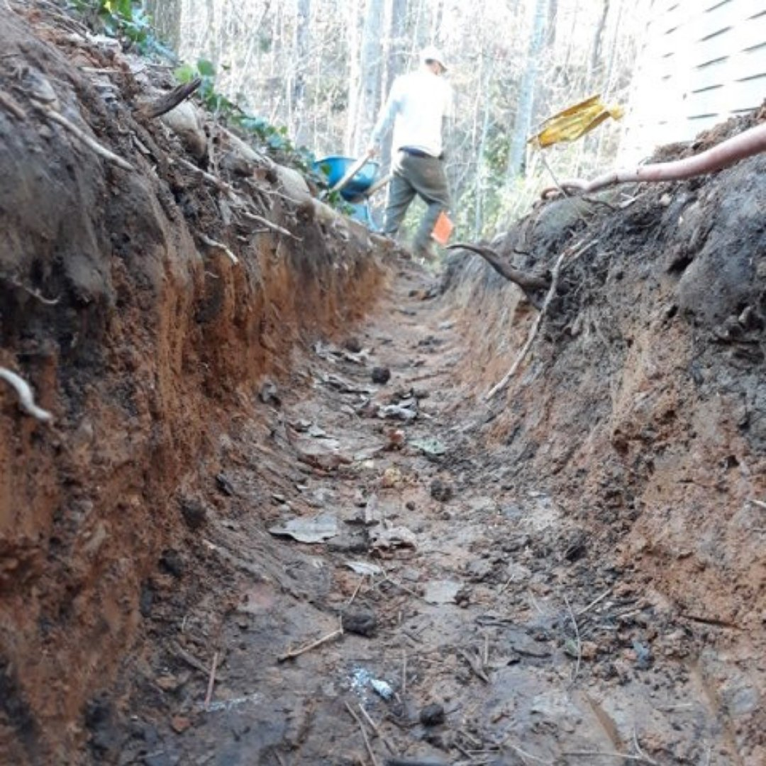 Digging Waterproofing Trench