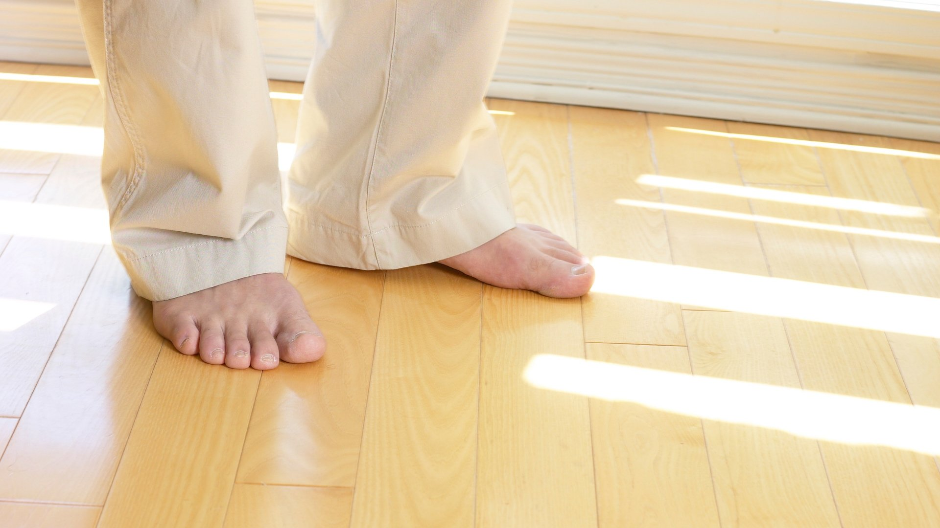 Bare Feet on Cold Wood Floor