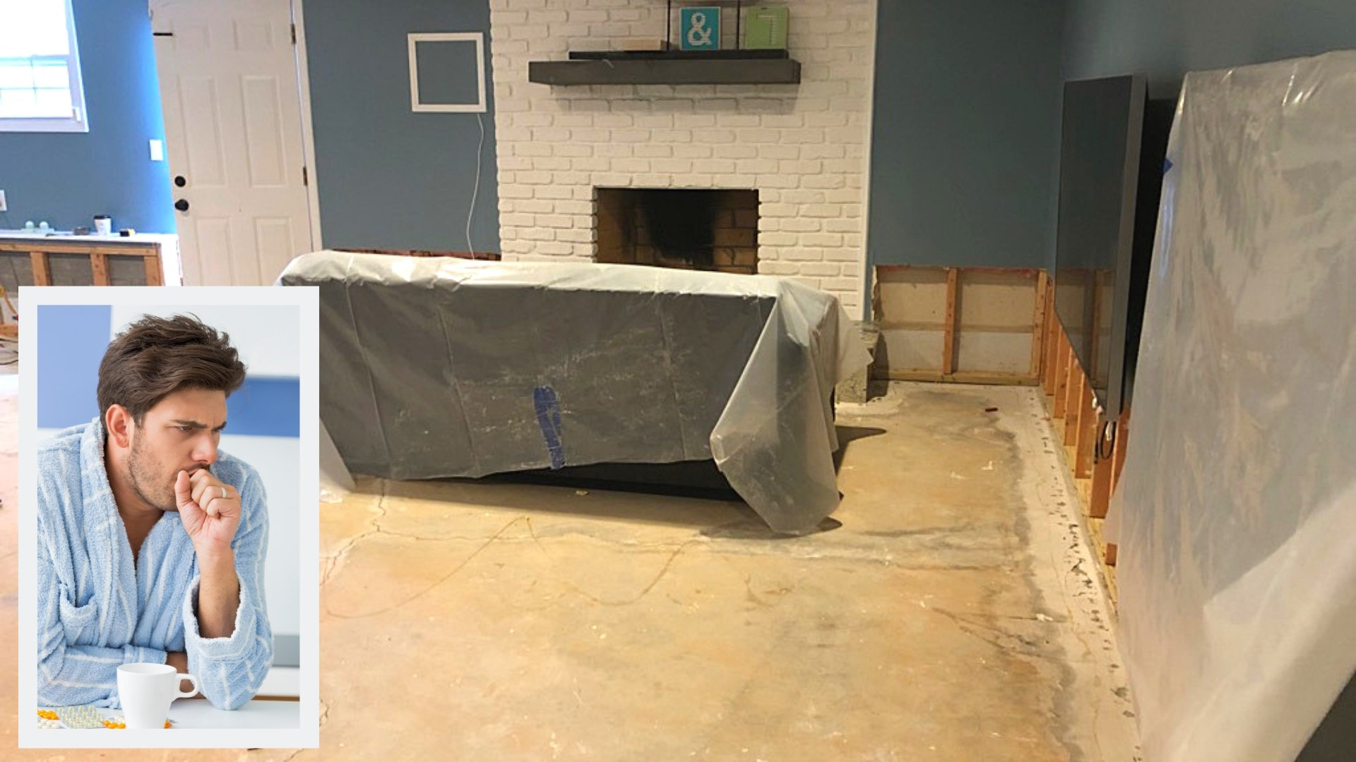 Basement After Cleaning Up Water Damage