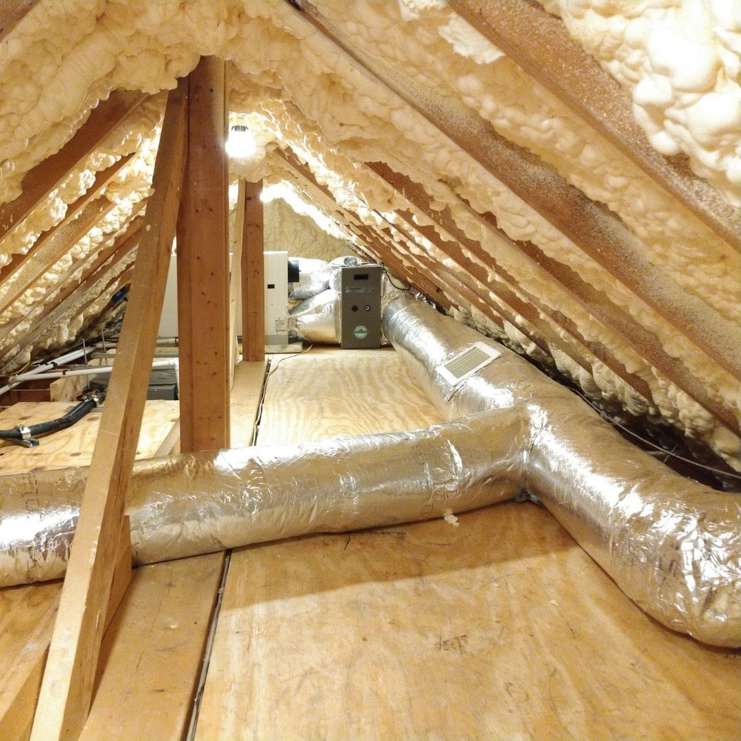 Duct Sealing in Attic Encapsulation - Gallery
