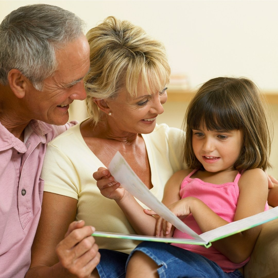 Family Reading Together - Gallery