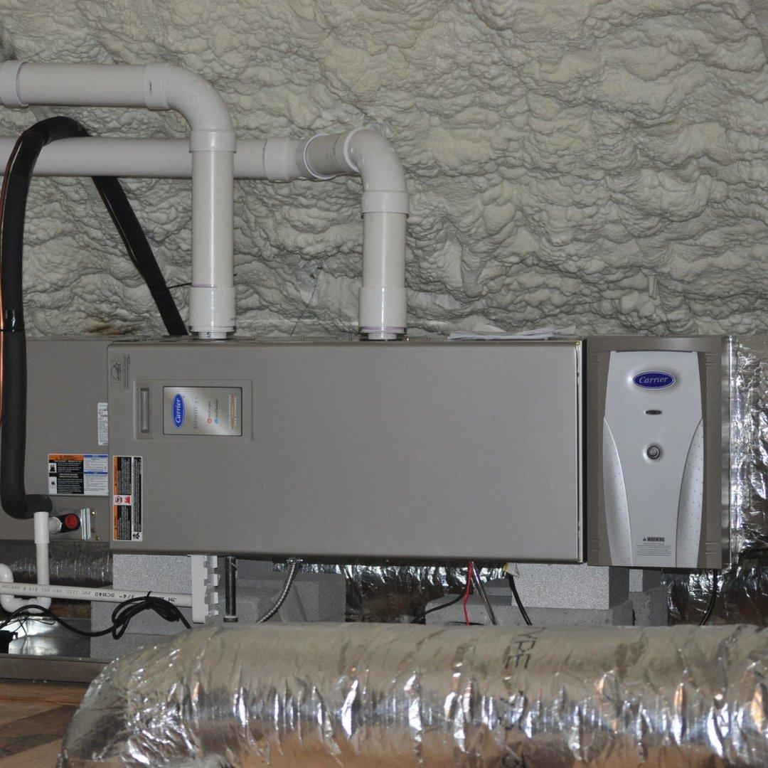 Furnace and Insulation in Attic - Gallery