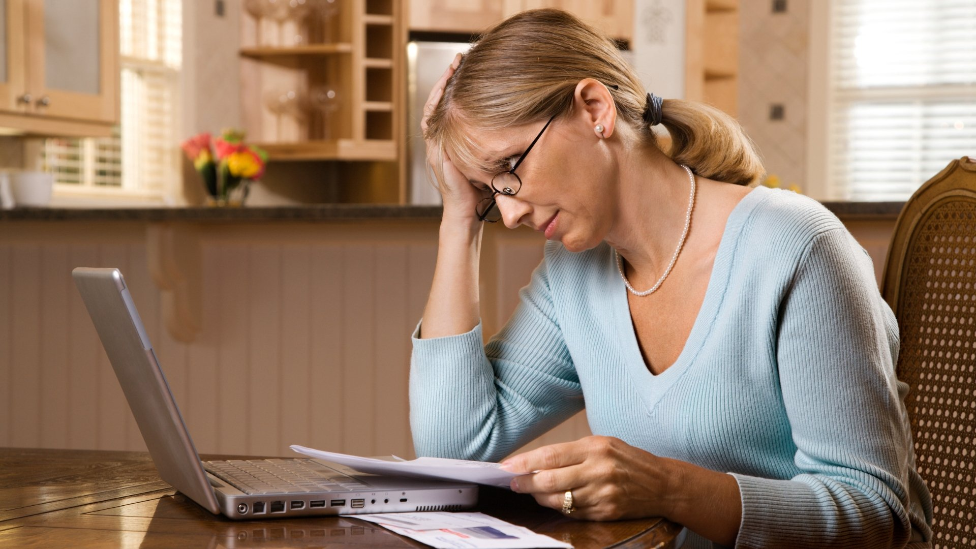 Woman Concerned About High Energy Bills