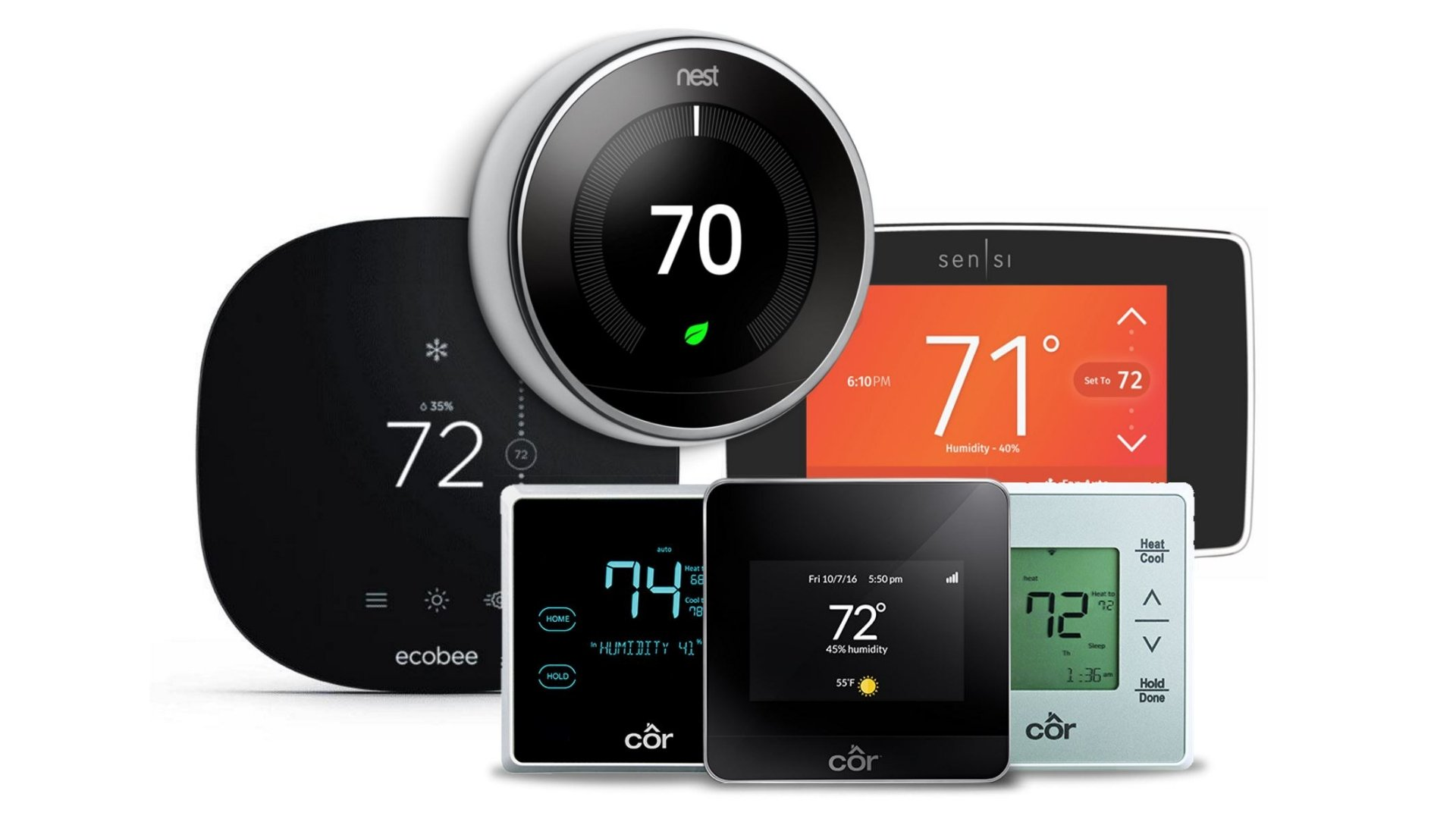 Group of Smart Thermostats