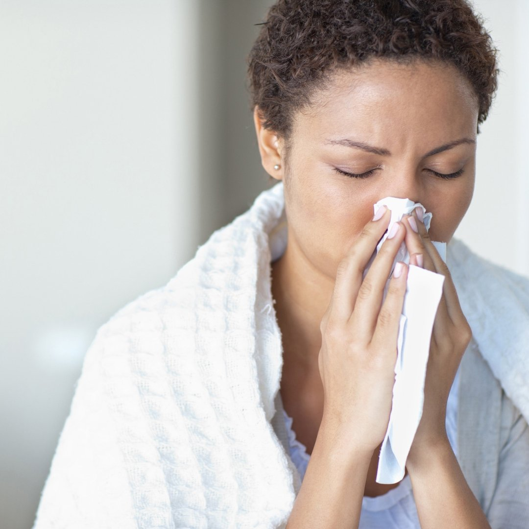 Woman Suffering From a Cold