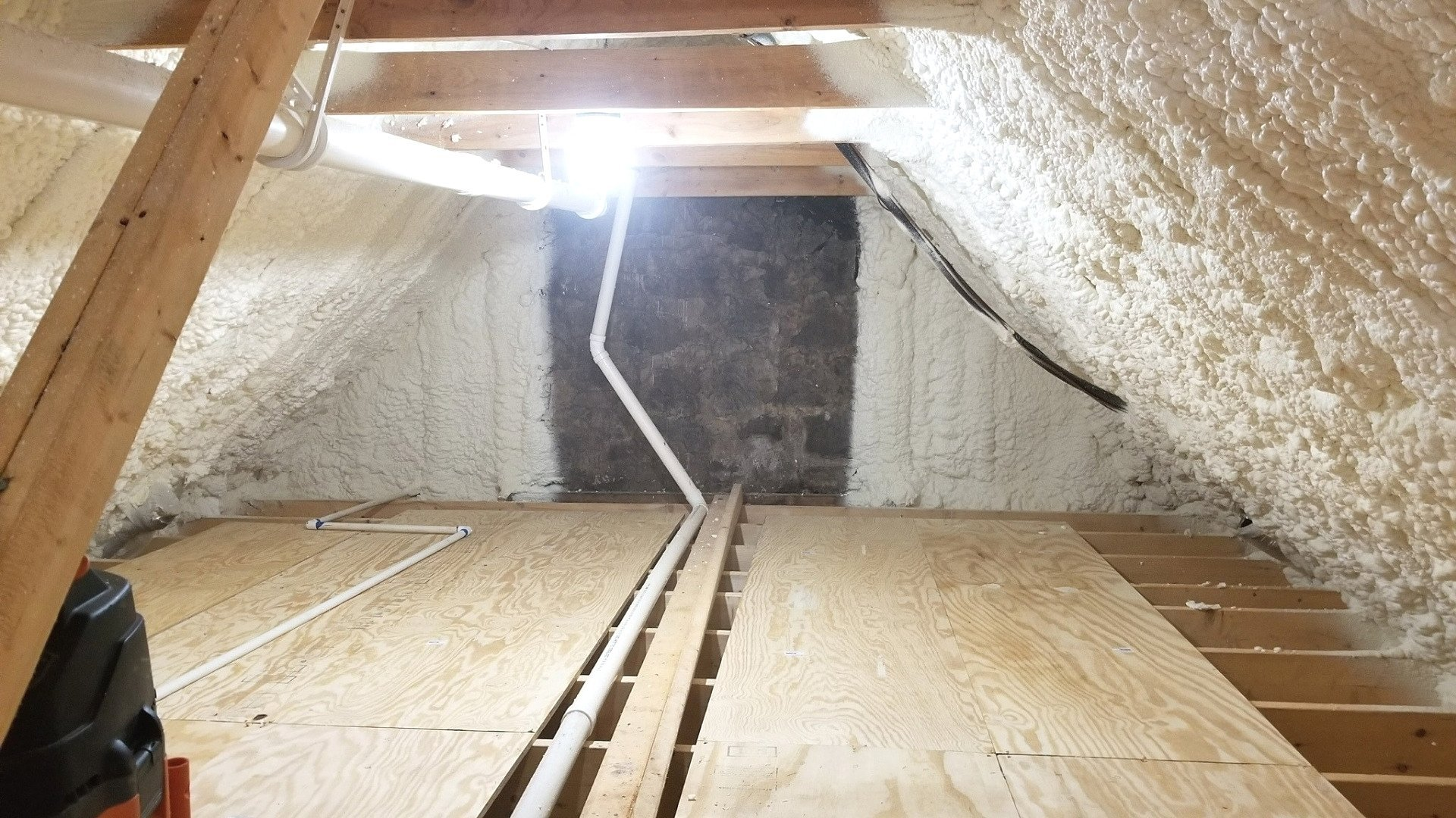 Completed Insulation Project During Attic Encapsulation - Page Gallery