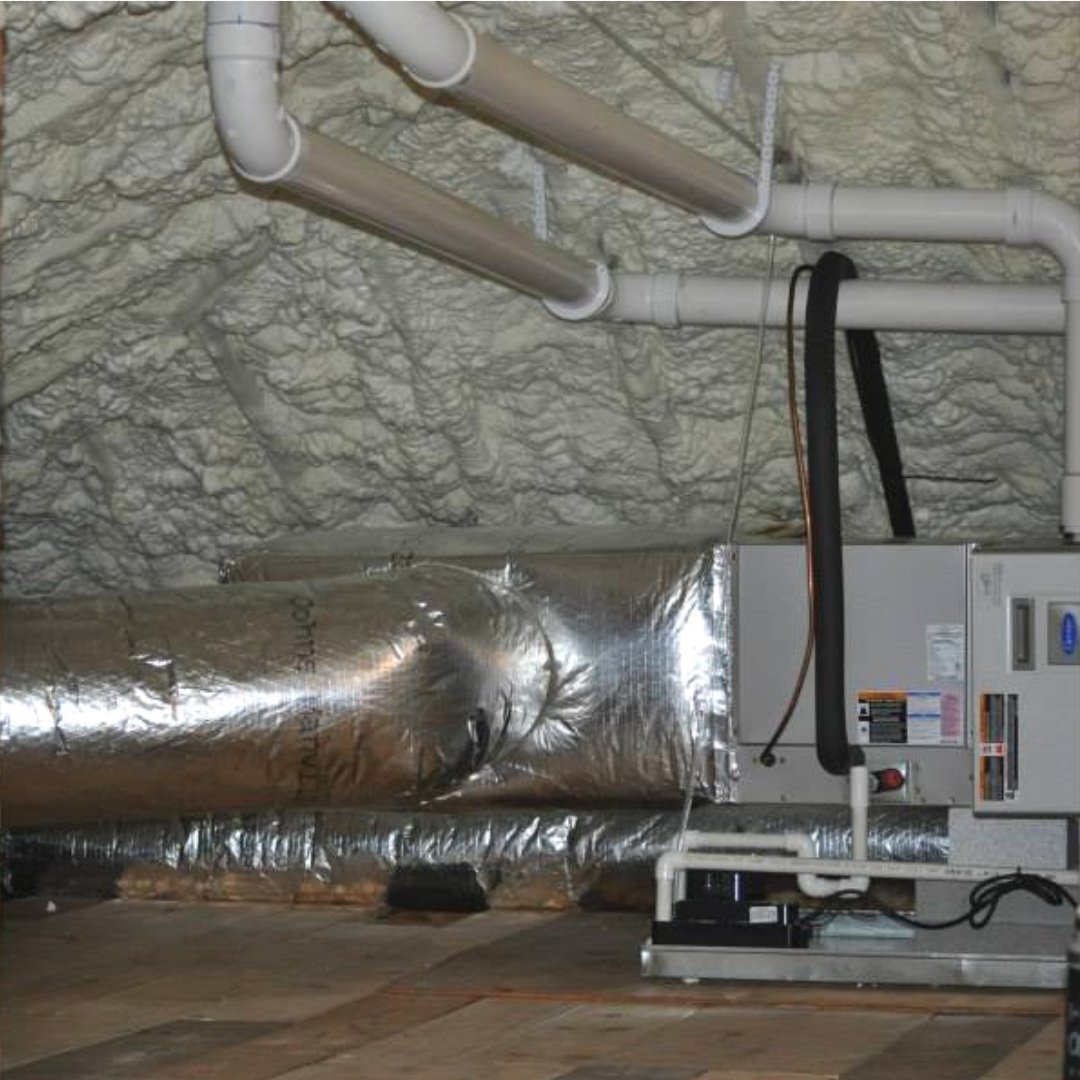 Proper Foam Insulation and Duct Sealing in Attic Encapsulation Project - Page Gallery