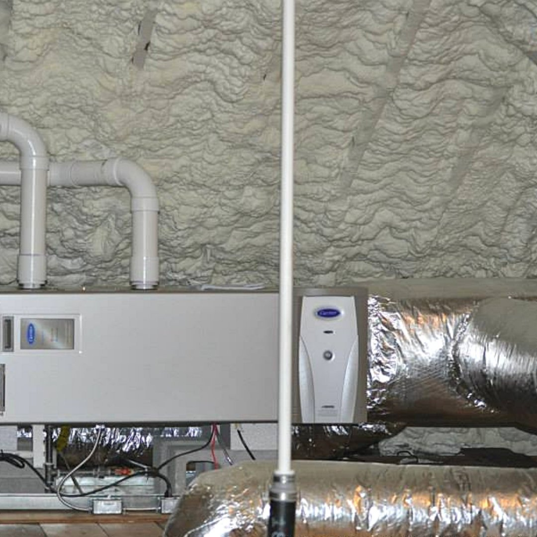 HVAC, Air Purifier, and Insulation Installed During Encapsulation - Attic Encapsulation Page Gallery