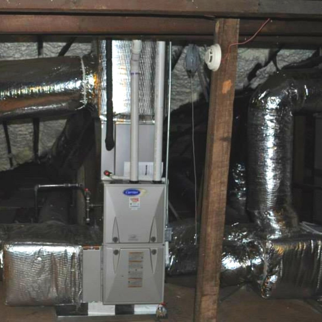 Duct Sealing and Furnace Install During Attic Encapsulation - Page Gallery