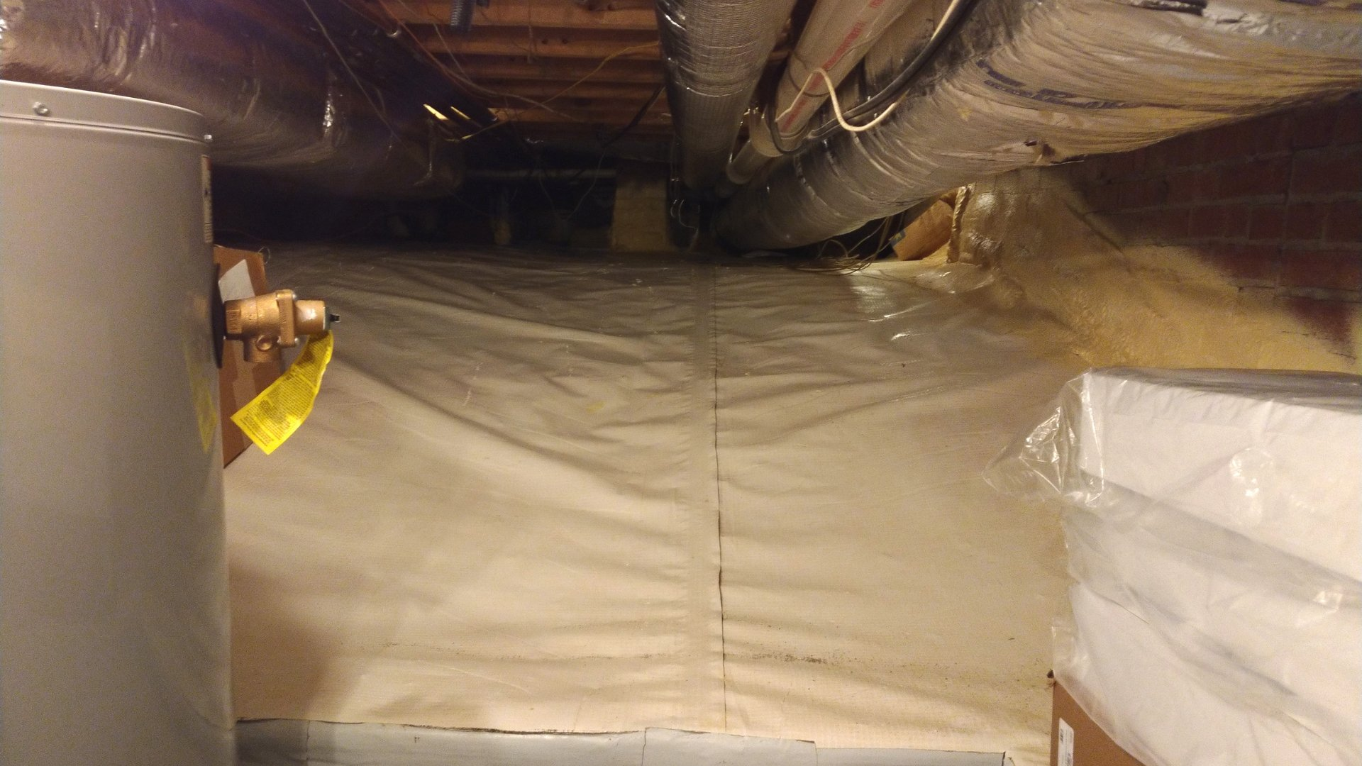 Waterproof Barrier in Encapsulated Crawlspace - Page Gallery