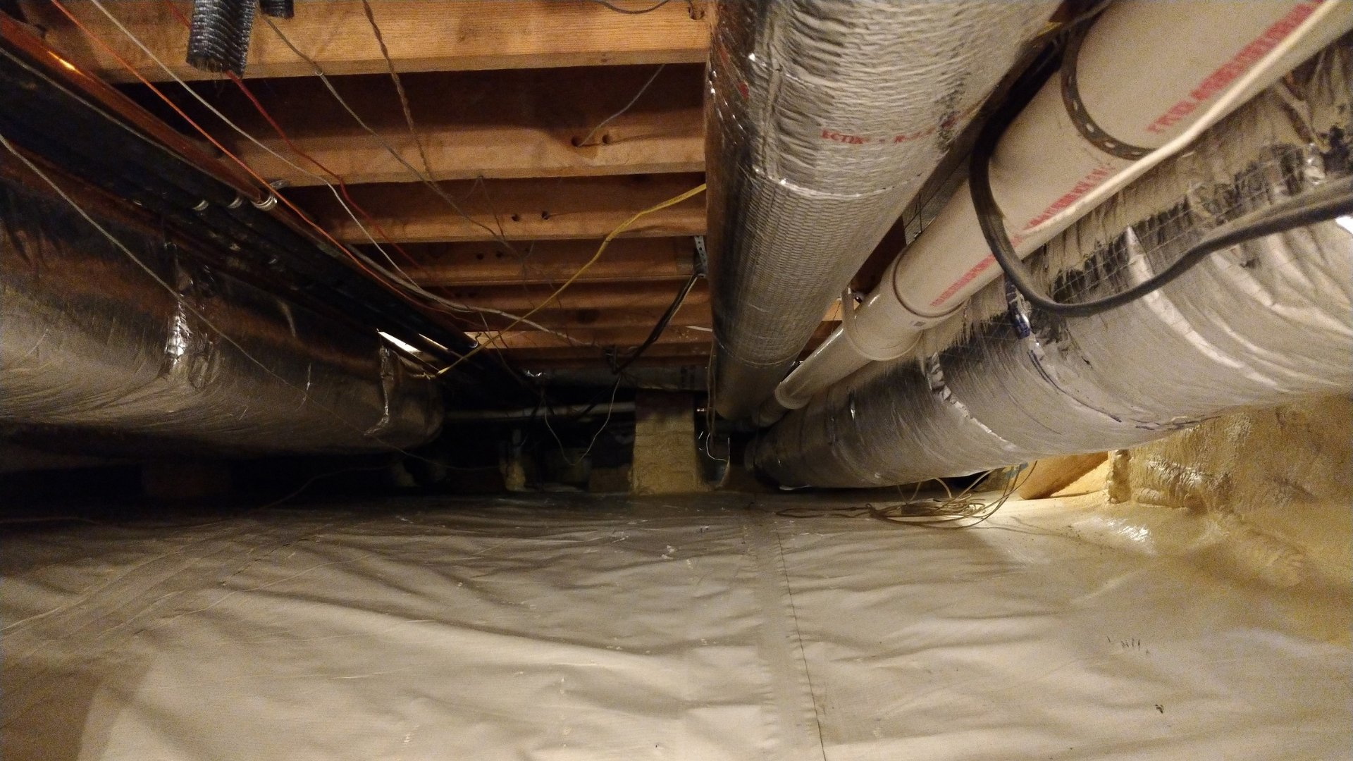 Duct Sealing in Crawlspace - Encapsulation Page Gallery