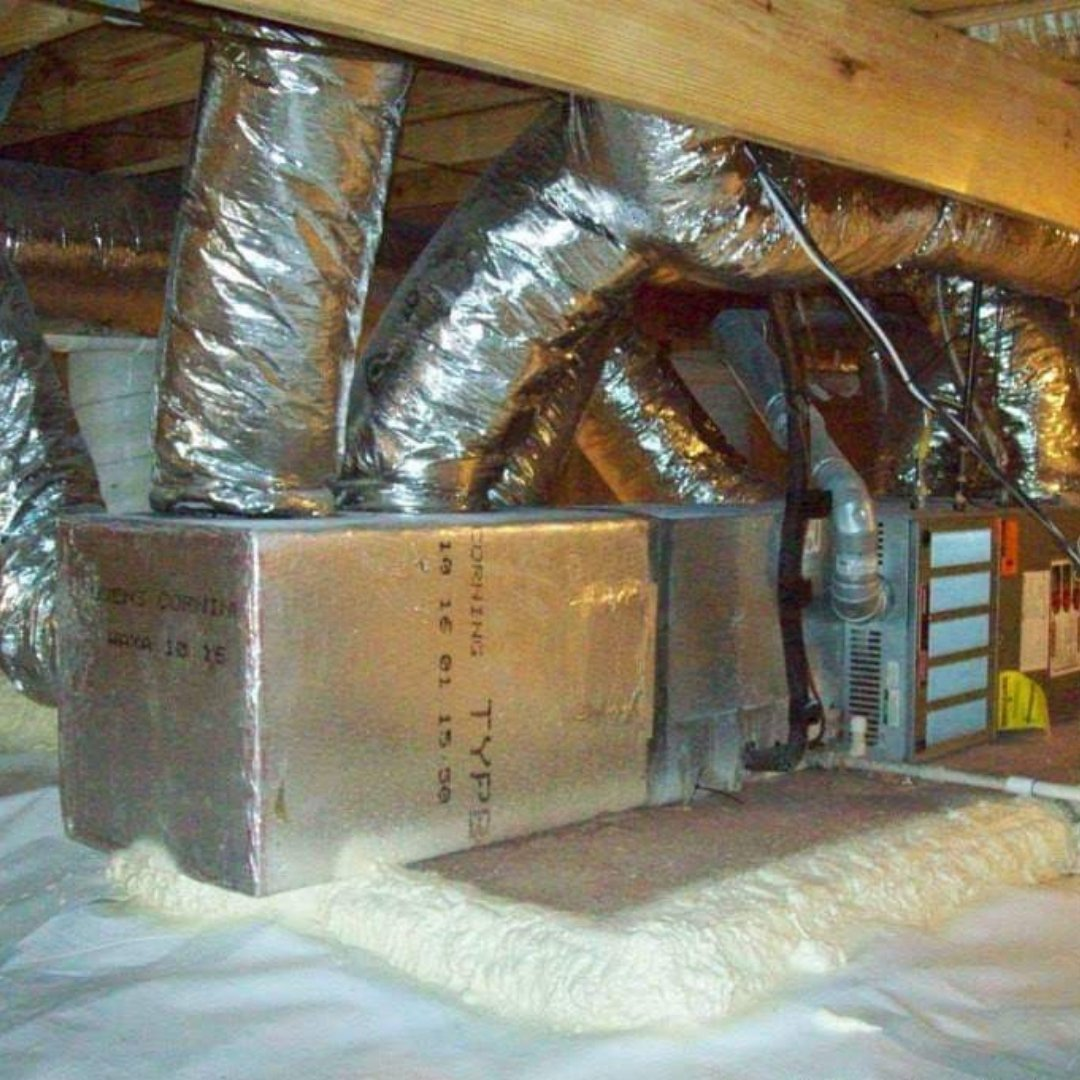 Sealed Ductwork and HVAC Unit in Crawlspace - Encapsulation Page Gallery