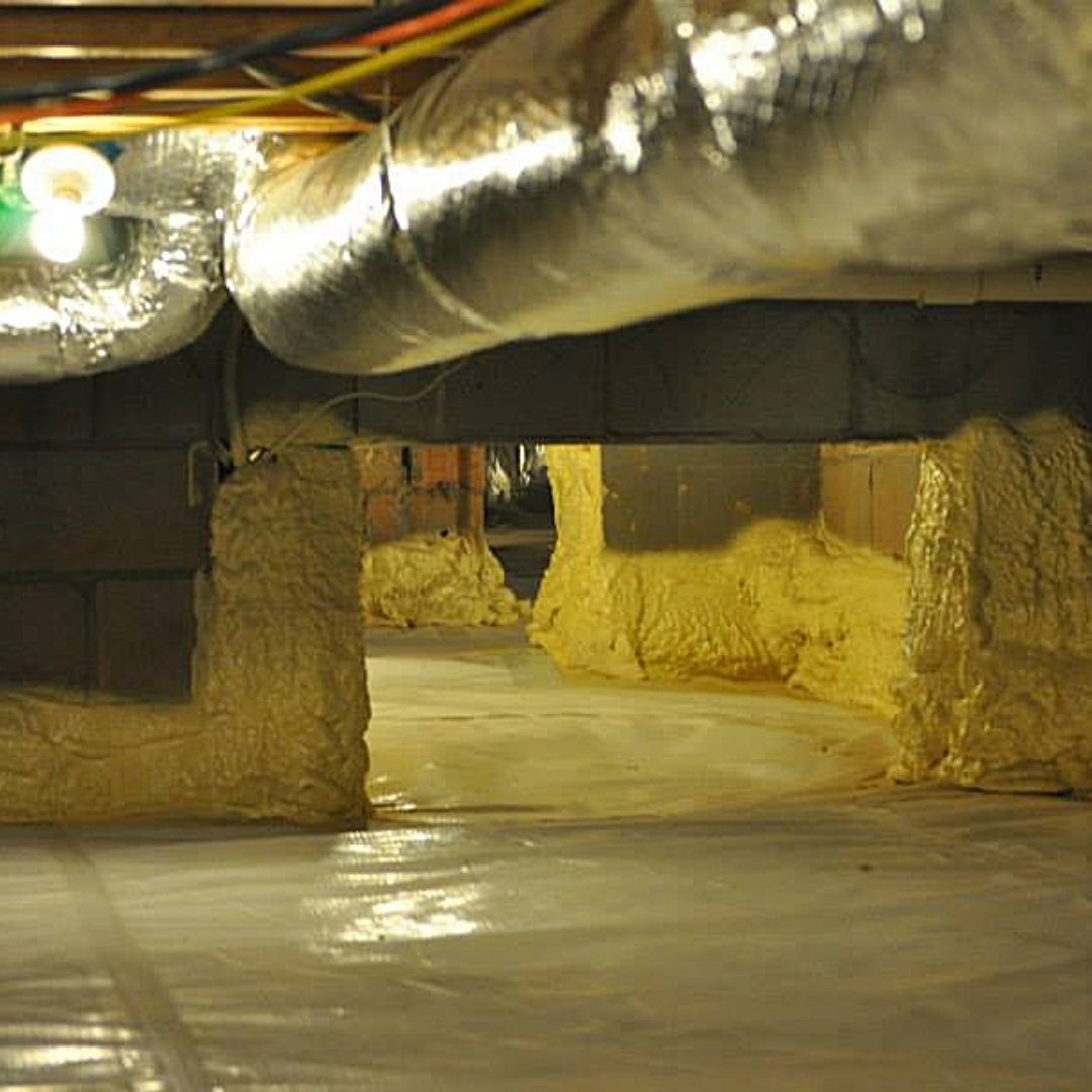 Crawlspace Encapsulation with Water Barrier and Insulation - Page Gallery