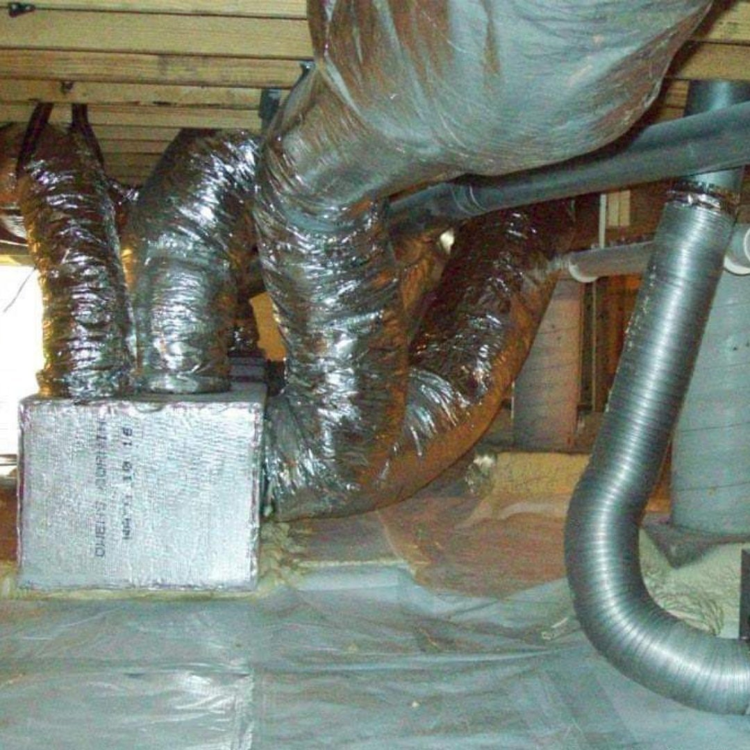 HVAC System Including Duct Work in Crawlspace - Encapsulation Page Gallery