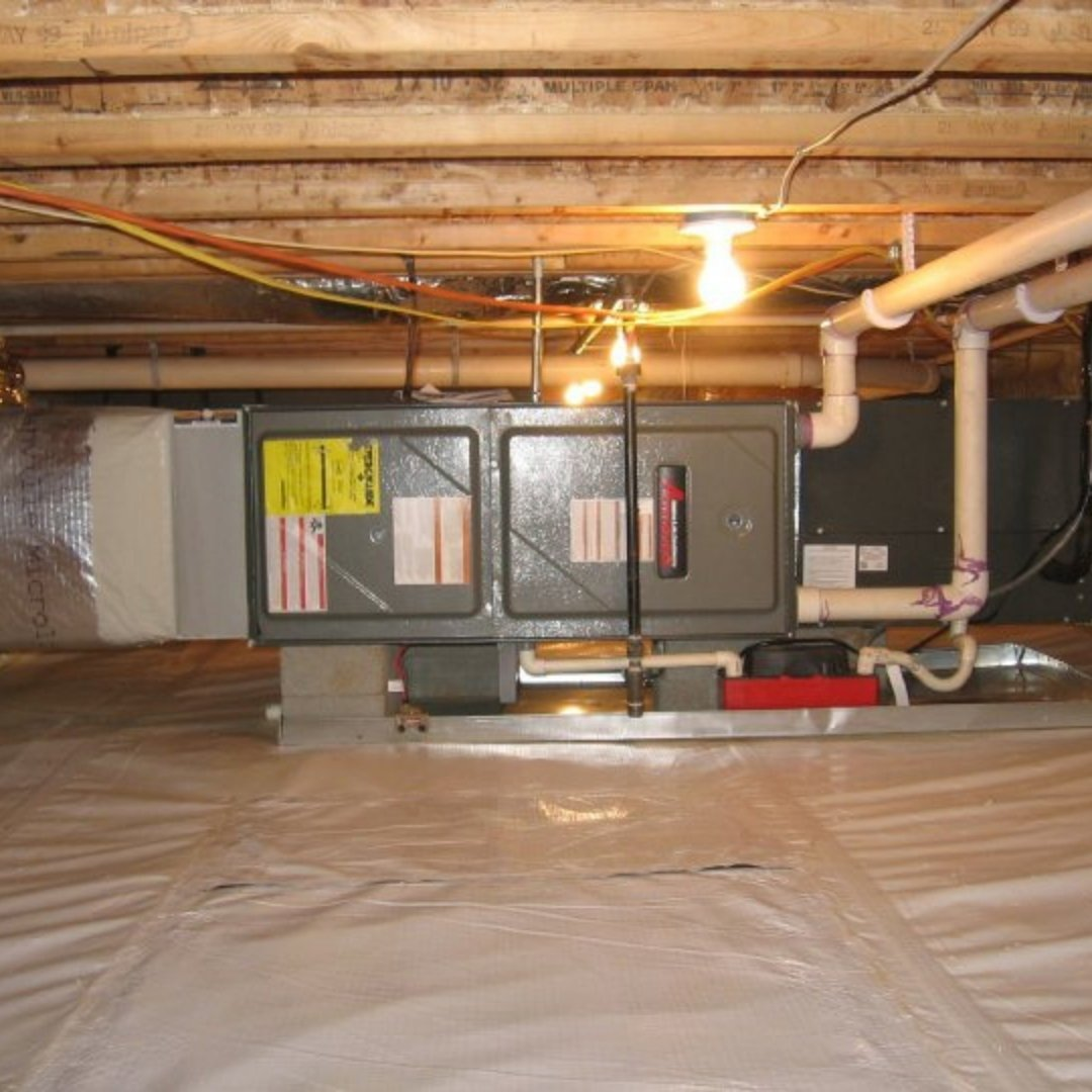 New Furnace Installed in Crawlspace Encapsulation - Page Gallery