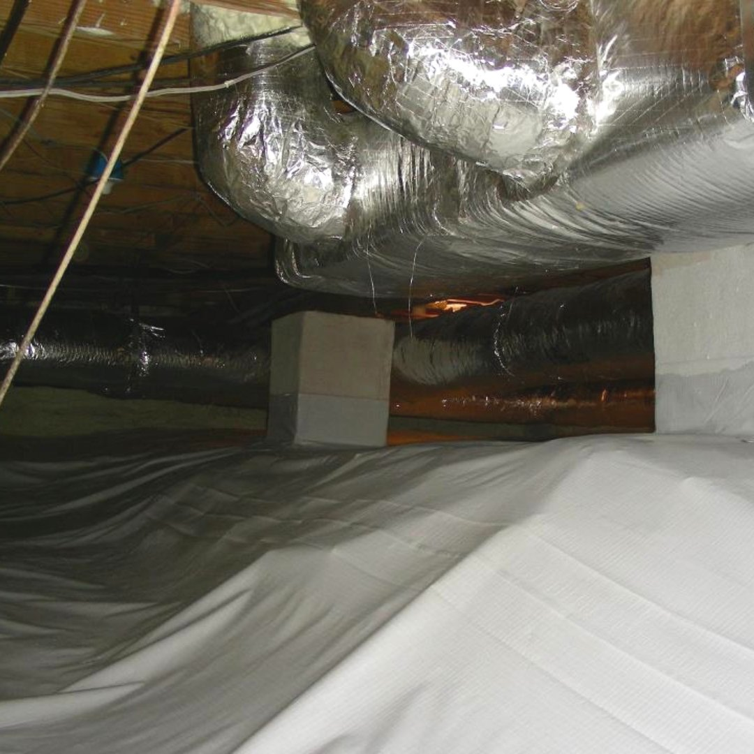 Water Barrier and Duct Sealing - Crawlspace Encapsulation Page Gallery