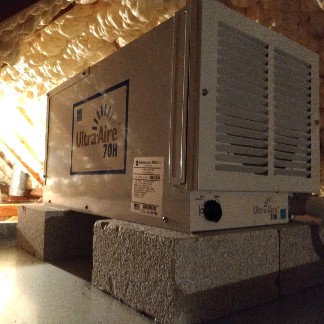 Ultra Aire Dehumidifier in Attic - Page Gallery
