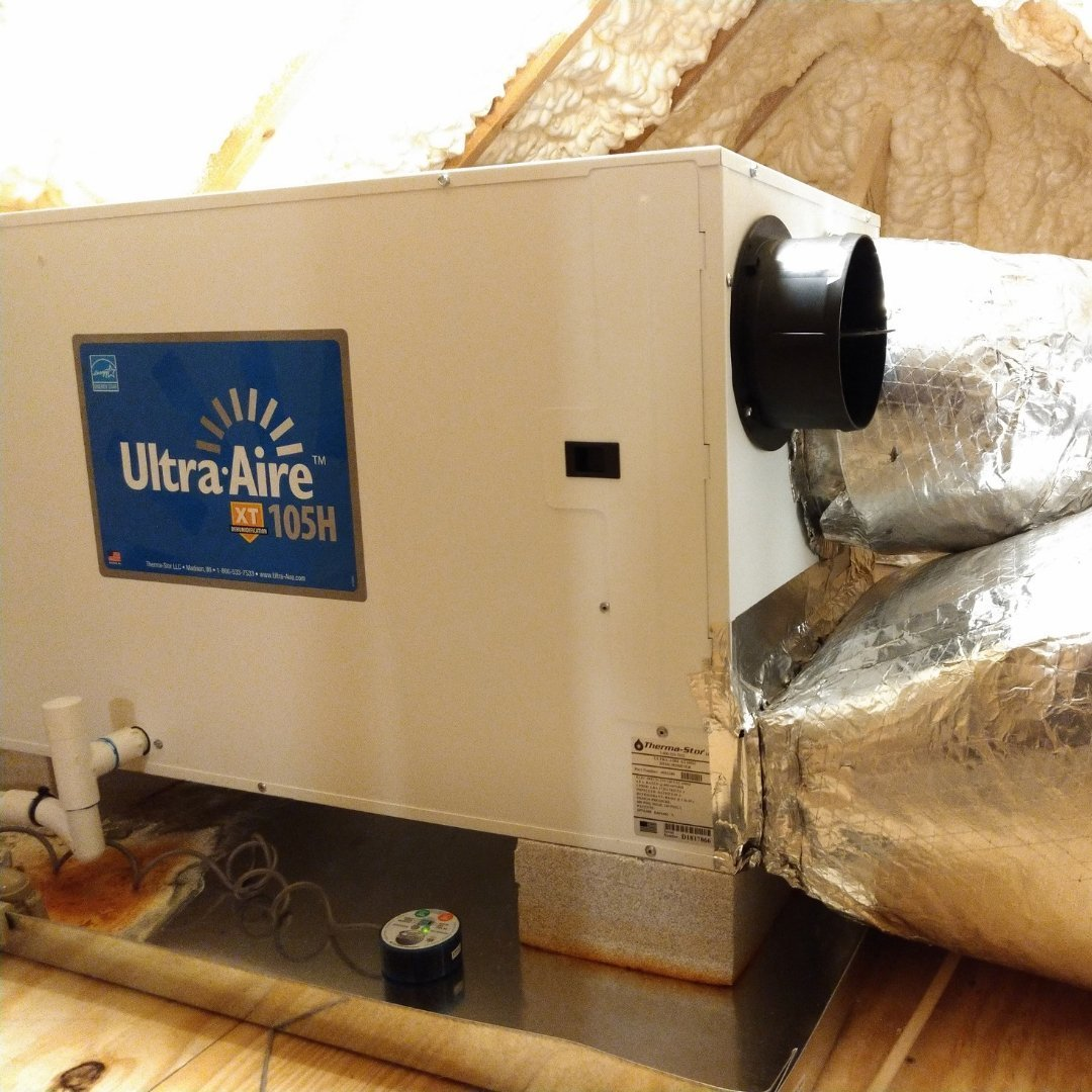 105H Ultra Aire Dehumidifier in Attic - Page Gallery