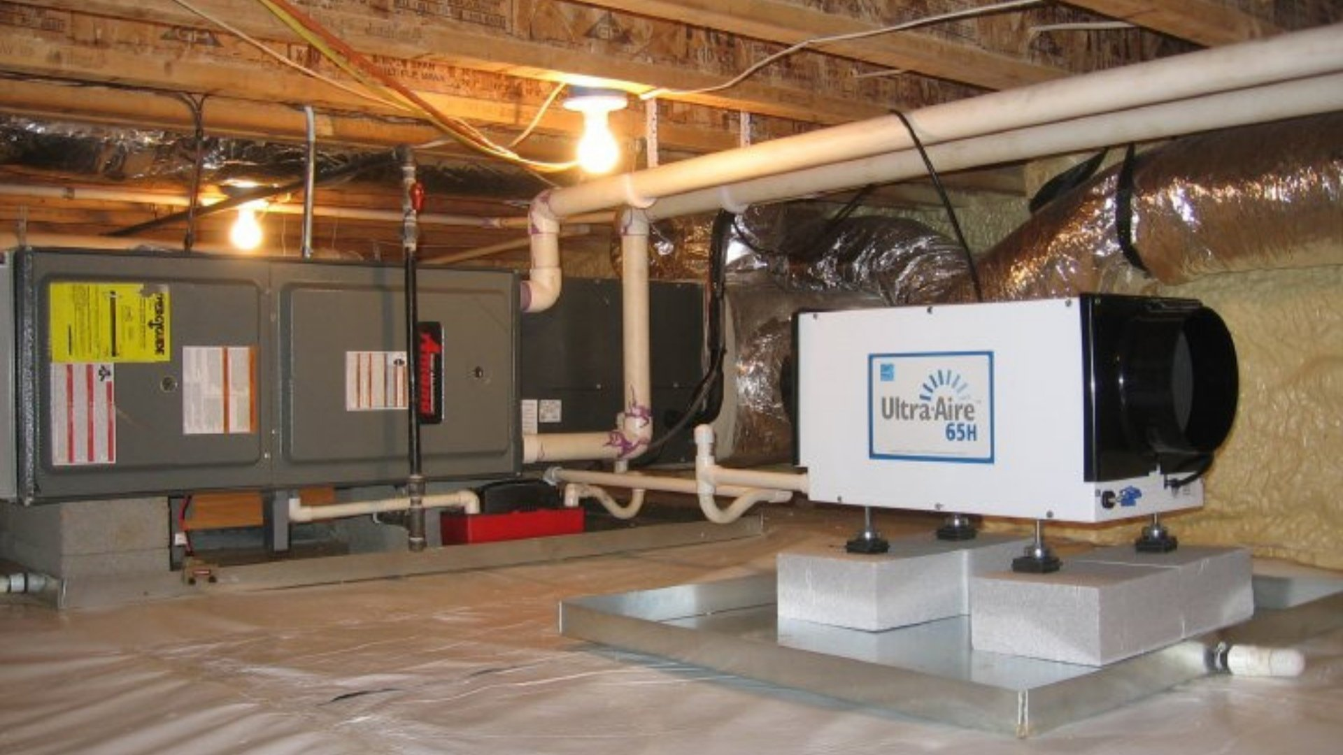 Dehumidifier in Crawlspace - Page Gallery