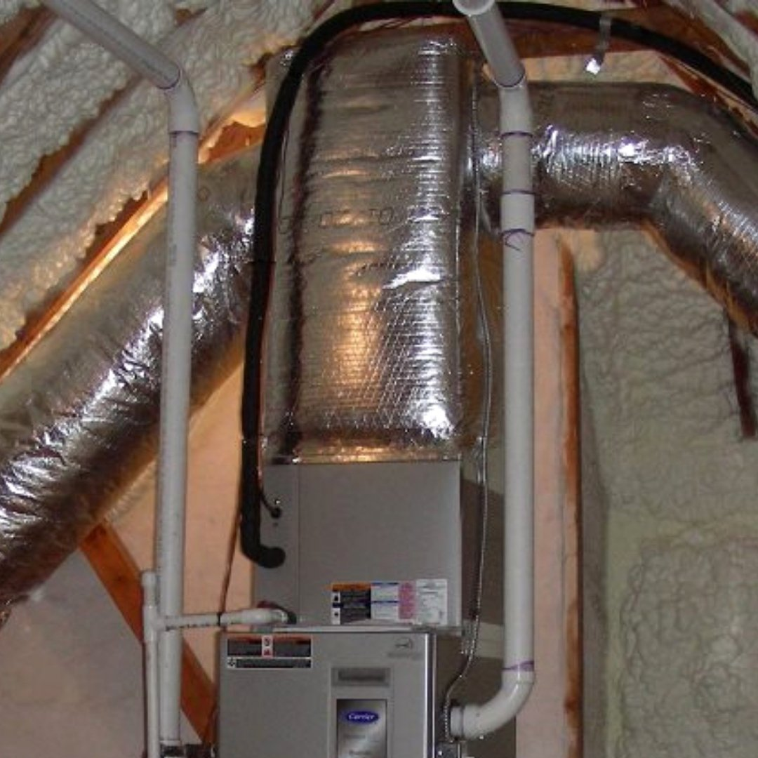 Duct Sealing Around Furnace in Attic - Page Gallery