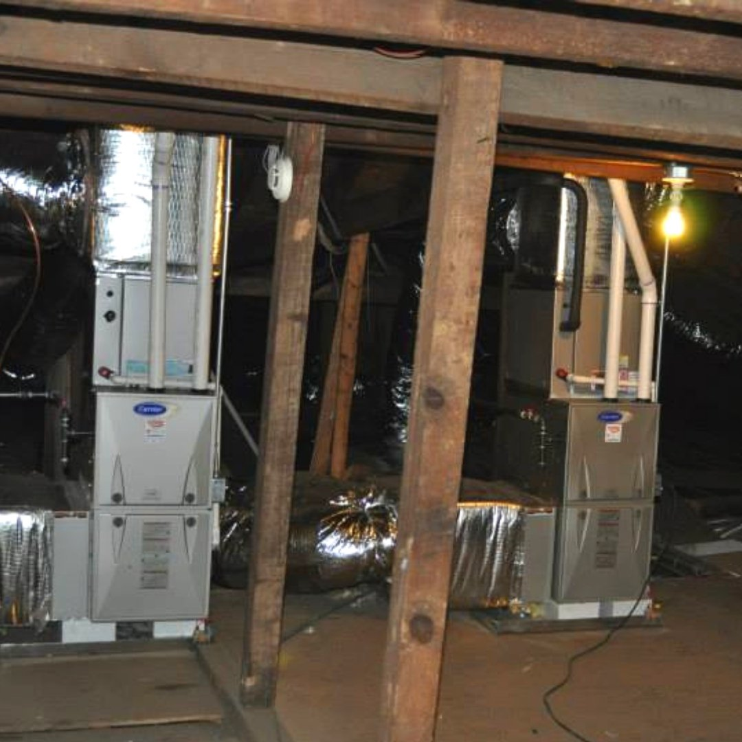 Two HVAC Units Installed During Attic Encapsulation - Heating Page Gallery