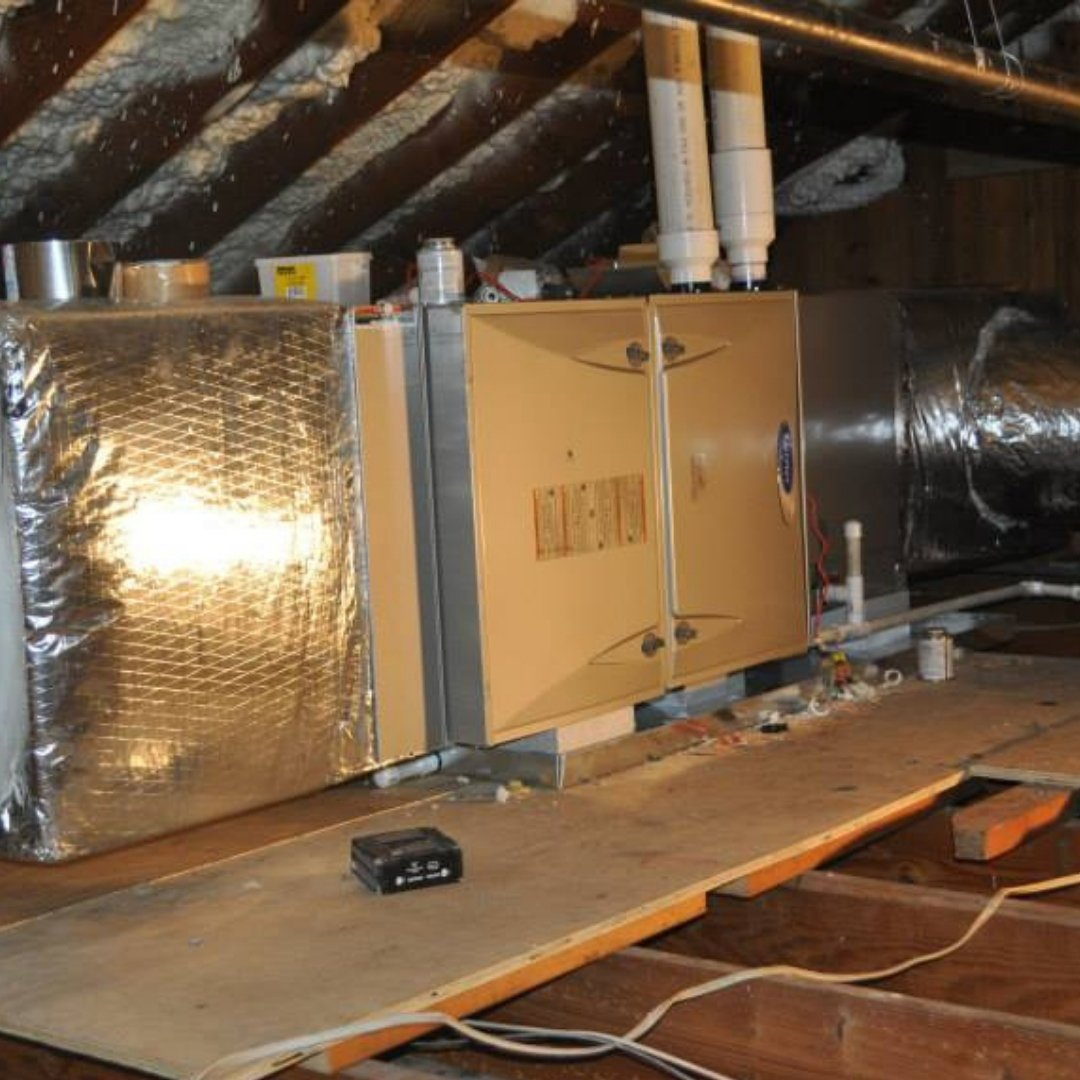 Furnace Installation During Attic Encapsulation - Heating Page Gallery