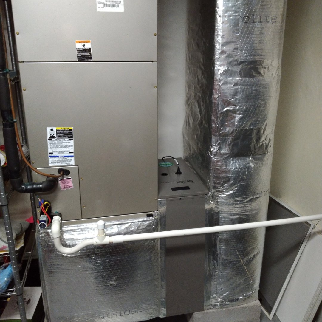 Furnace and Air Purification Unit Installed - Heating Page Gallery