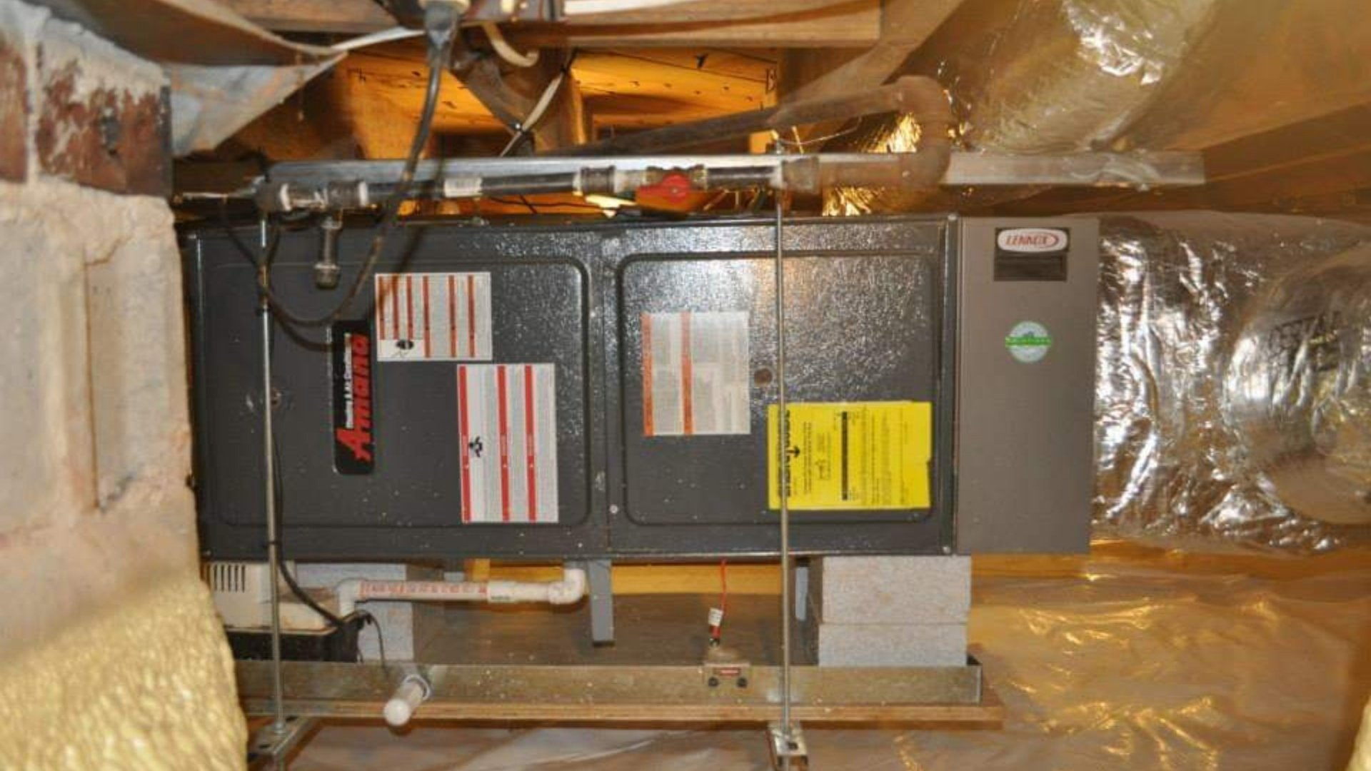 Amana Furnace installed in Crawlspace - Heating Page Gallery