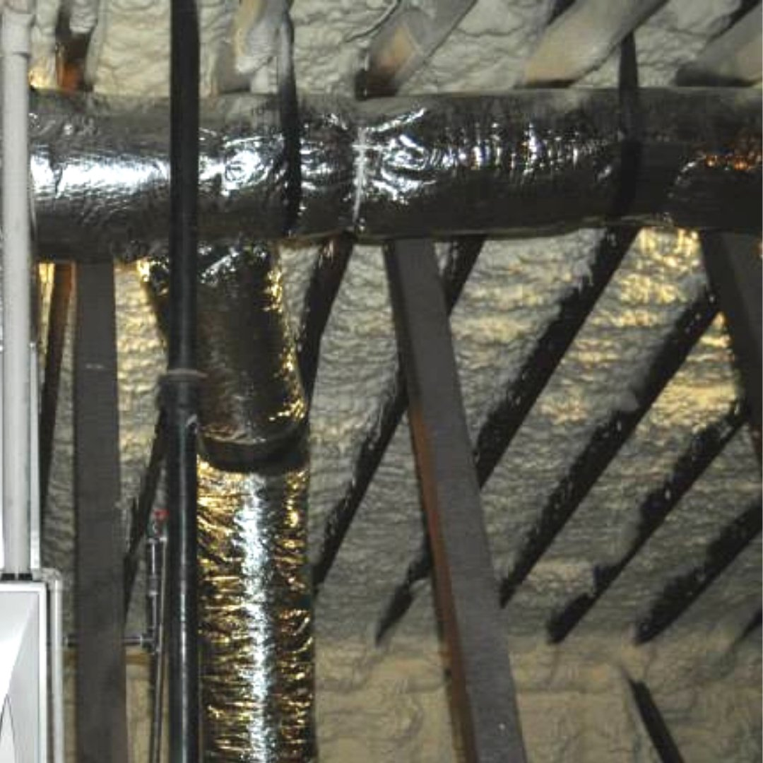 Ductwork and Spray Foam Insulation - Page Gallery