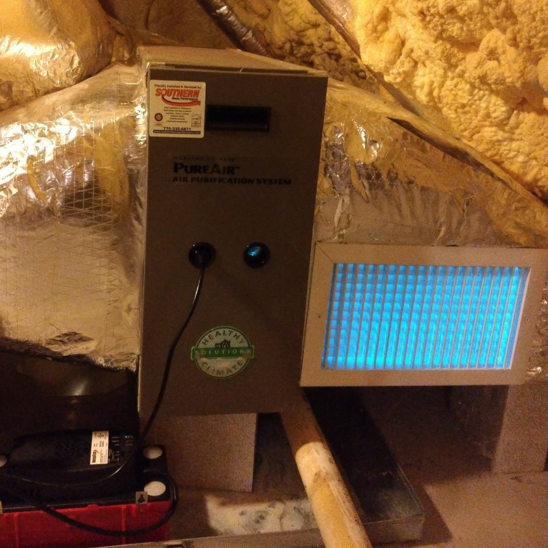 Close-up of Air Purification System and UV Lights - Page Gallery
