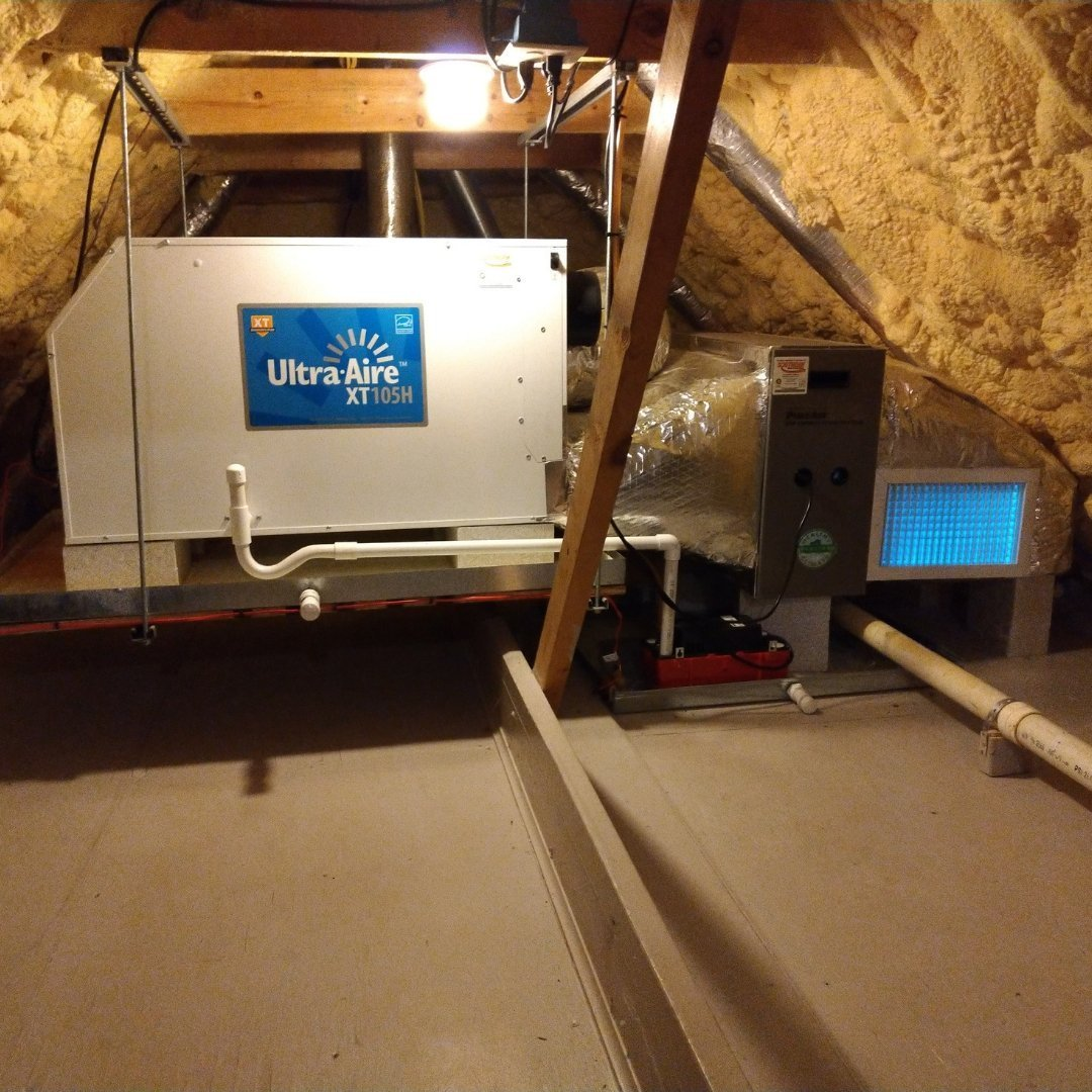 Improving Indoor Air Quality - Dehumidifier, Air Purification System and UV Lights - Page Gallery