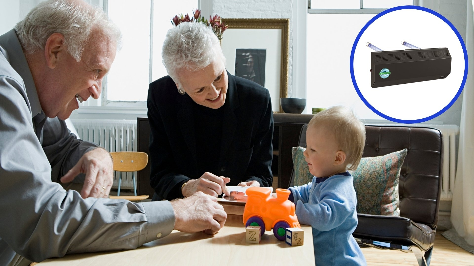 Grandparents Playing Blocks with Grandchild